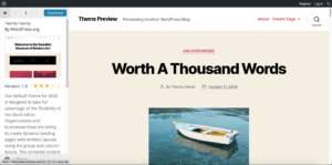 WordPress Twenty Twenty Theme