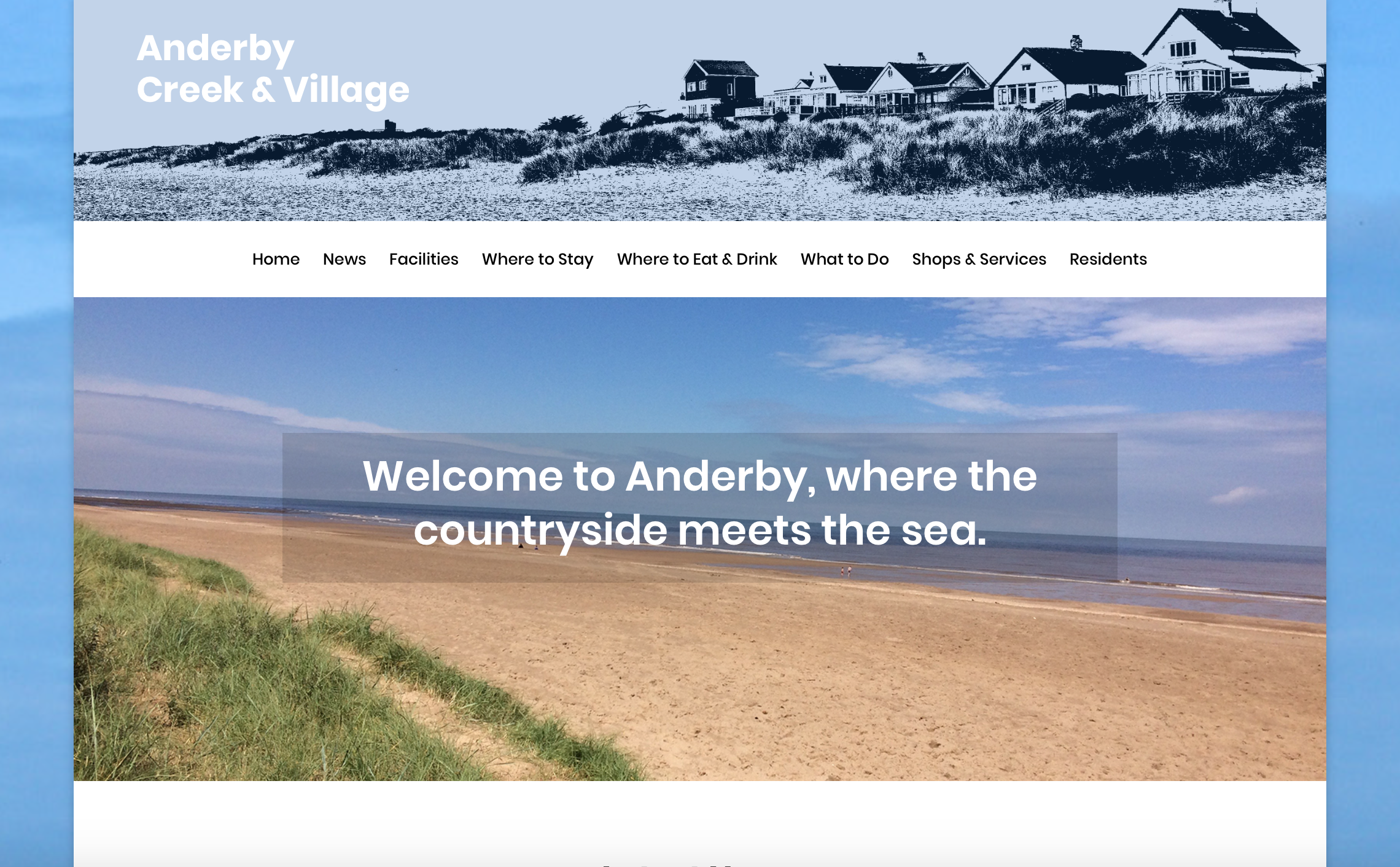 Anderby Creek and Village website